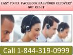 Facebook Password Recovery not Reset | 1(844)-319-09999