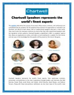 Chartwell Speakers Represents The World's Finest Experts