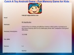 Catch A Toy Android Game - Fun Memory Game for Kids