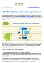 5 Best Known Benefits of Custom Mobile App Development