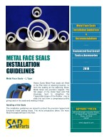 METAL FACE SEALS INSTALLATION GUIDELINES