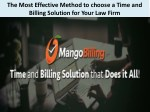 The Most Effective Method to choose a Time and Billing Solution for Your Law Firm