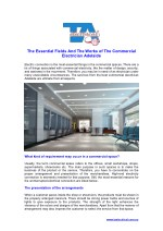 The Essential Fields And The Works of The Commercial Electrician Adelaide
