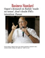 Oppn's demand on Rafale 'made no sense', don't doubt PM's intention: Pawar