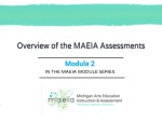 Overview of the MAEIA Assessments