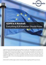 GDPR In A Nutshell: Everything B2B Marketer Should Know