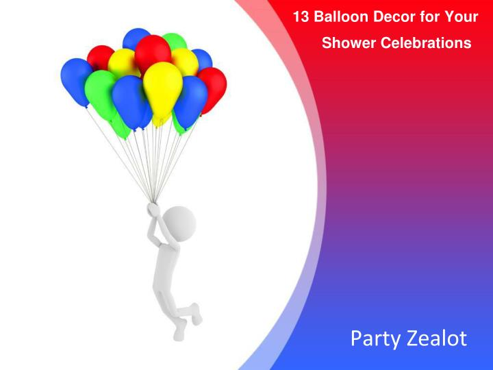 13 balloon decor for your shower celebrations n.