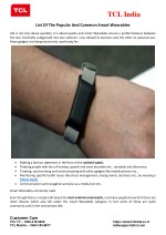 List Of The Popular And Common Smart Wearables