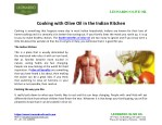 Cooking with Olive Oil in the Indian Kitchen