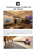 Top Interior Designers in Delhi NCR - ARK Village24