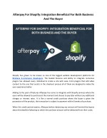 Afterpay For Shopify: Integration Beneficial For Both Business And The Buyer