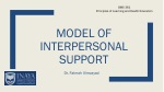 model of Interpersonal support