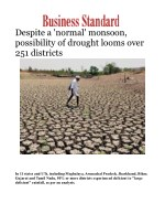 Despite a 'normal' monsoon, possibility of drought looms over 251 districts