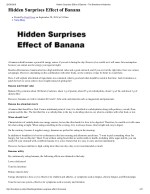 Hidden Surprises Effect of Banana