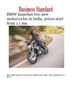 BMW launches two new motorcycles in India, prices start from 1.1 mn