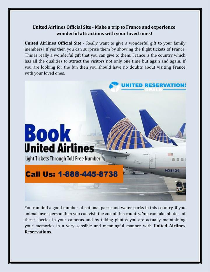united airlines official site make a trip n.
