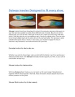 Soleeze insoles Designed to fit every shoe