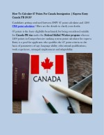 How To Calculate 67 Points For Canada Immigration - AP Immigration