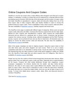 Online Coupons And Coupon Codes