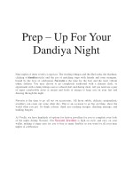 Prep – Up For Your Dandiya Night