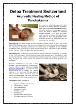 Ayurvedic Healing Method of Panchakarma