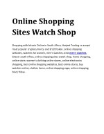 Online Shopping Sites Watch Shop