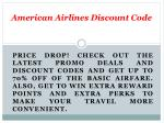 Promotion Code American Airlines - Save $200