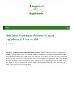 What Are The Benefits Of Hair Juice Accelerator?