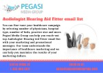 Audiologist-Hearing Aid Fitter Email List in USA