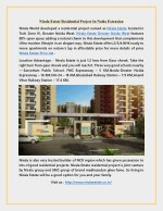 Nirala Estate Residential Project In Noida Extension