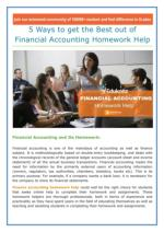5 Ways to get the Best out of Financial Accounting Homework Help