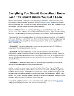 Everything You Should Know About Home Loan Tax Benefit Before You Get a Loan