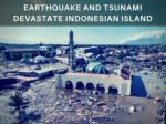 Earthquake and tsunami devastate Indonesian island 2018