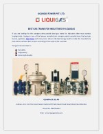BEST GAS TRAINS FOR INDUSTRIES BY LIQUIGAS