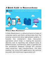Data Warehouse Architecture - Data Analytic Services