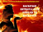 Backpage Ostrava | Site similar to Backpage