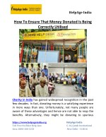 How To Ensure That Money Donated Is Being Correctly Utilised