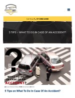 5 Tips – What To Do In Case Of An Accident?