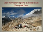 Best Adventure Sports in Nepal That Everyone Love