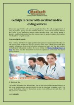 Get high in career with excellent medical coding services