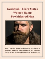 Evolution theory states women hump bewhiskered men