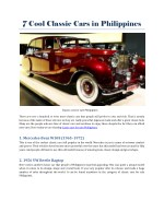 Classic cars for sale Philippines