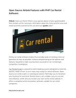 Open Source Airbnb Features with PHP Car Rental Software