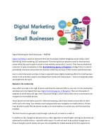 Digital Marketing for Small Businesses – SABERNI