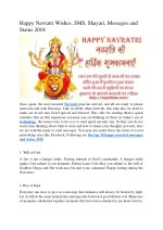 Happy Navratri Wishes, SMS, Shayari, Messages and Status 2018