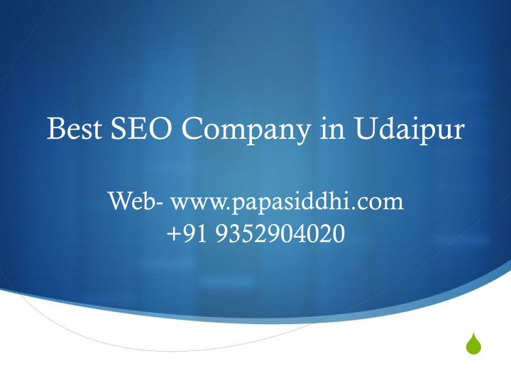best seo company in udaipur n.