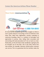 Contact the American Airlines Phone Number