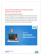 What is Full Stack Development, How to Become Full Stack Developer ? A Step by Step Guide