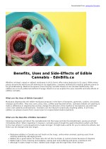 Benefits, Uses and Side-Effects of Edible Cannabis - EdnBills.ca