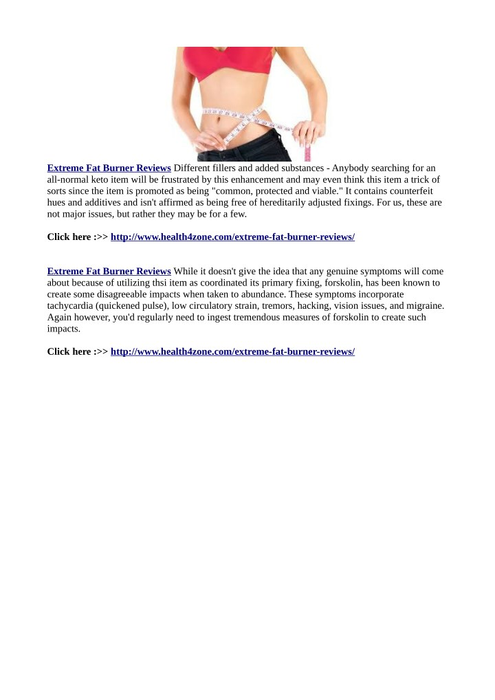 extreme fat burner reviews different fillers n.